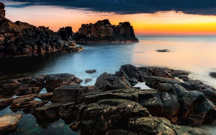 Sweden beach ocean sunset-Nature Photo HD Wallpaper Views:1959
