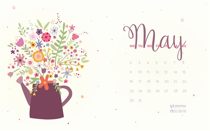 Add Color To Your Life-May 2016 Calendar Wallpaper Views:2635