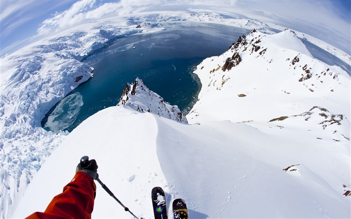 Antarctica skiing travel snow-Nature High Quality Wallpaper Views:2199
