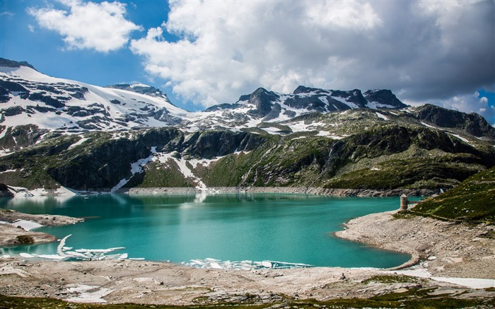 Austrian alps lake mountains-Nature High Quality Wallpaper Views:1905