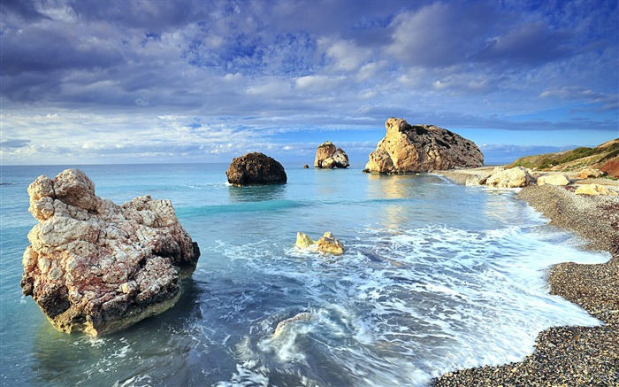Cyprus rock sea shores-Nature High Quality Wallpaper Views:1683