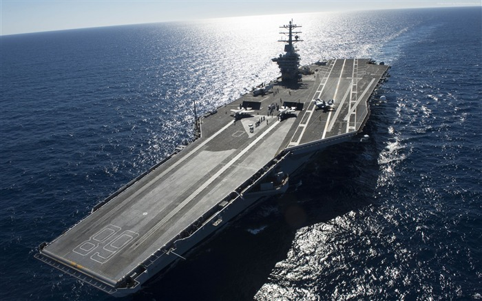 Gerald ford cvn lead ship us navy-Military Vessels HD Wallpaper Views:2219