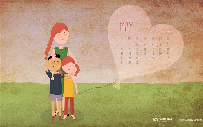 Happy Mothers Day-May 2016 Calendar Wallpaper Views:2543