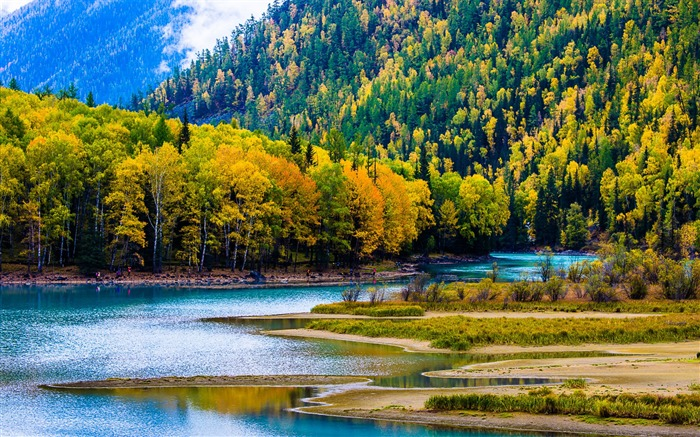 Kanas Lake Xinjiang China Travel Photo HD Wallpaper Views:6232