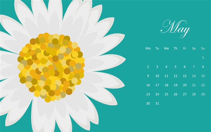 Most Common Flower-May 2016 Calendar Wallpaper Views:3058