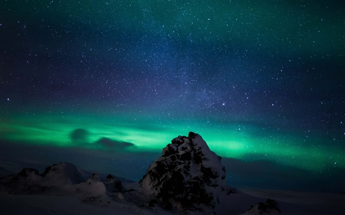 Northern lights iceland aurora borealis-Nature scenery HD Wallpaper Views:1859