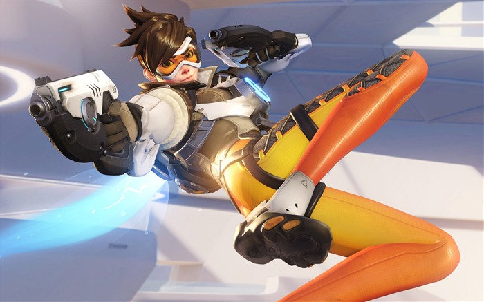 Overwatch Tracer 2016 Game HD Theme Desktop Wallpaper Views:9426