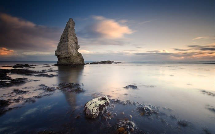 Rock stones reeves evening sea-Nature High Quality Wallpaper Views:1326