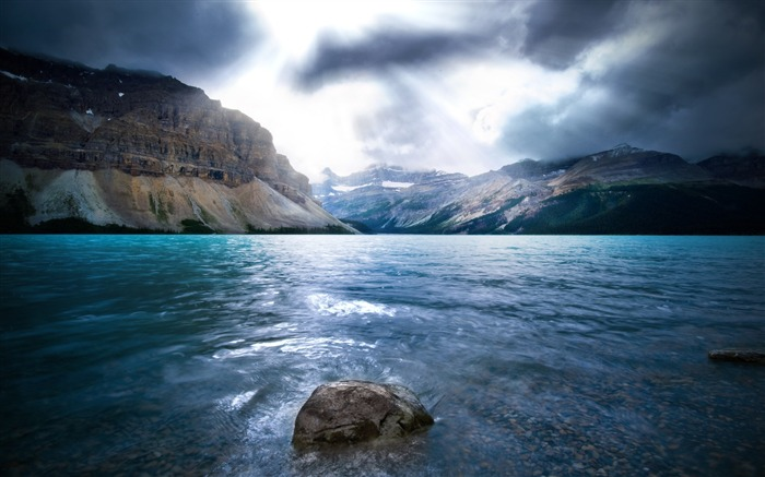 Rocks water stones blue gray-Nature High Quality Wallpaper Views:1802