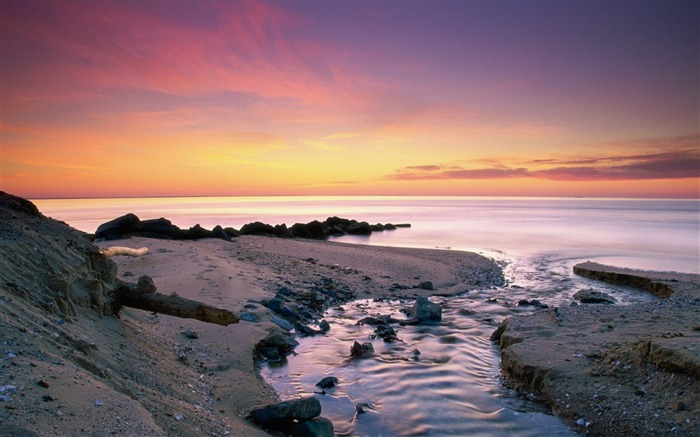 Sea sand distance evening-Nature High Quality Wallpaper Views:980