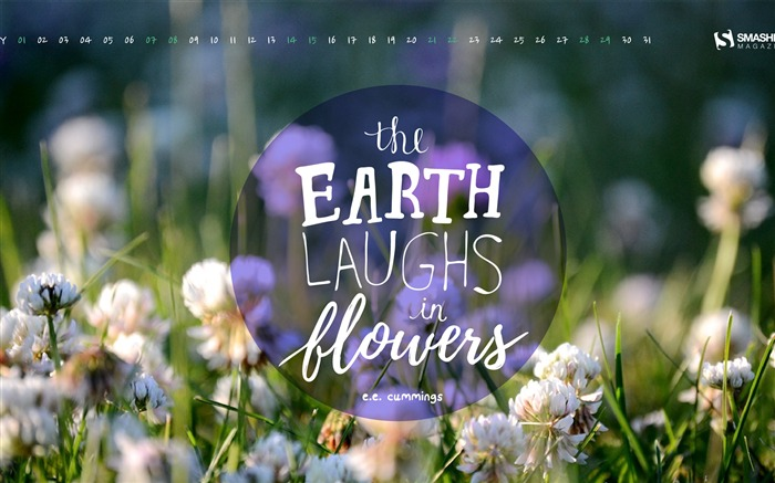The Earth Laughs In Flowers-May 2016 Calendar Wallpaper Views:1570