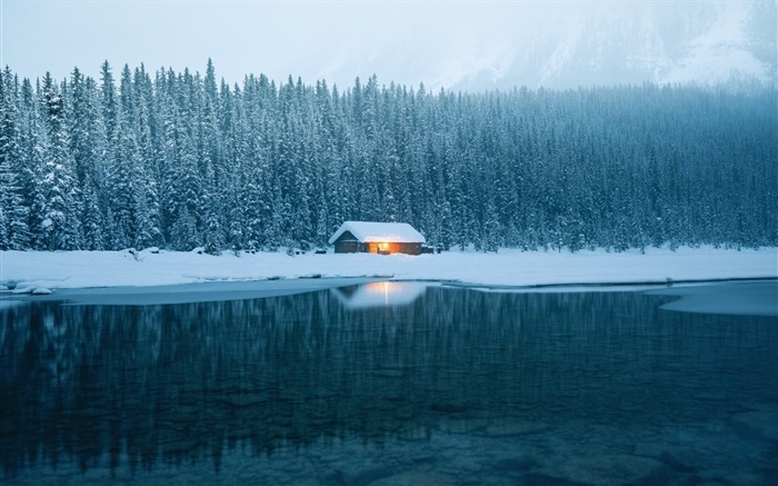 Winter tires ice snow house-Nature High Quality Wallpaper Views:815