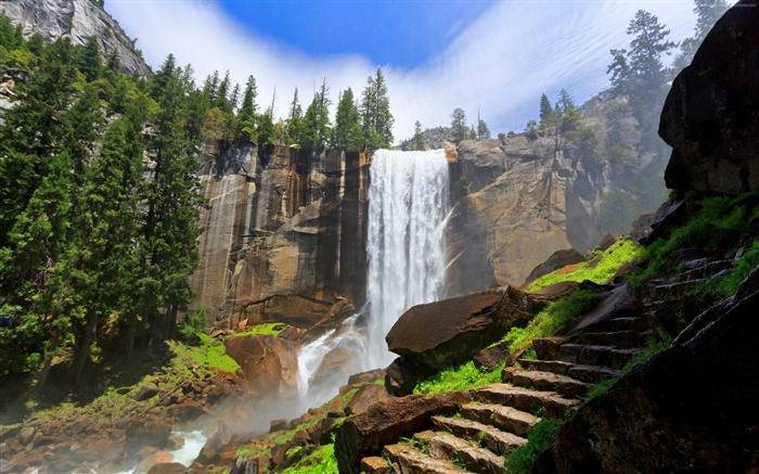 Yosemite forest mountains-Nature HD Wallpaper Views:1298