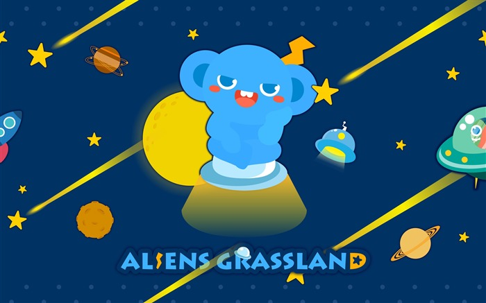 Alien Prairie Star Alsens Grassland Anime Wallpaper 02 Views:1474
