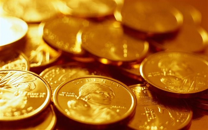 Coins gold glitter collection-Still Life Macro HD Wallpaper Views:1750