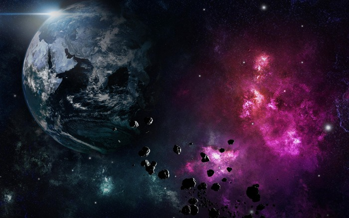 Earth planet nebula explosion-Expanse Space HD Wallpaper Views:2127