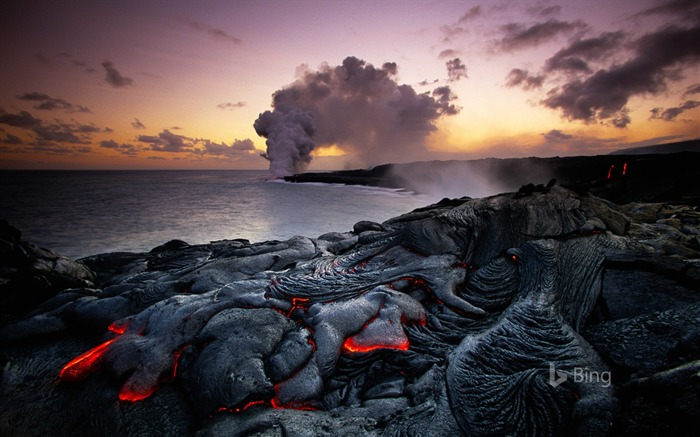 Hawaii Volcanoes National Park-2016 Bing Desktop Wallpaper Views:2553