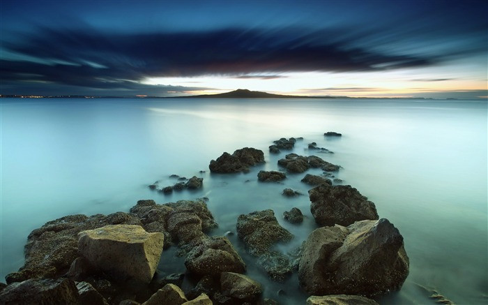 Lake Long Exposure-Widescreen High Quality Wallpaper Views:943