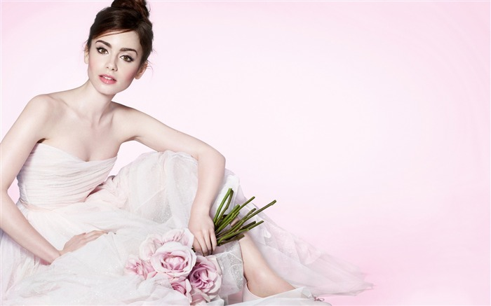 Lily Collins 2016-Beauty Photo HD Wallpapers Views:2416