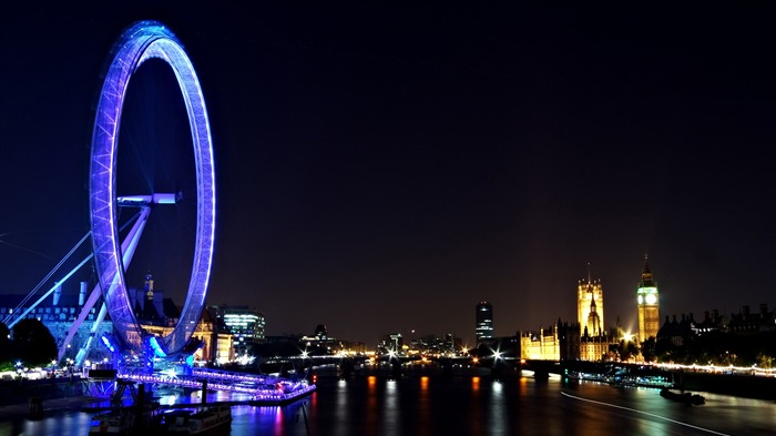 London Eye Night Travel-Cities Photo HD Wallpaper Views:1034