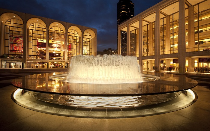New York Lincoln Center Arts-Cities Photo HD Wallpaper Views:1318
