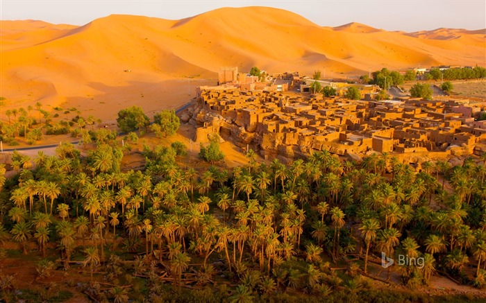 Oasis town of Taghit Algeria-2016 Bing Desktop Wallpaper Views:1282