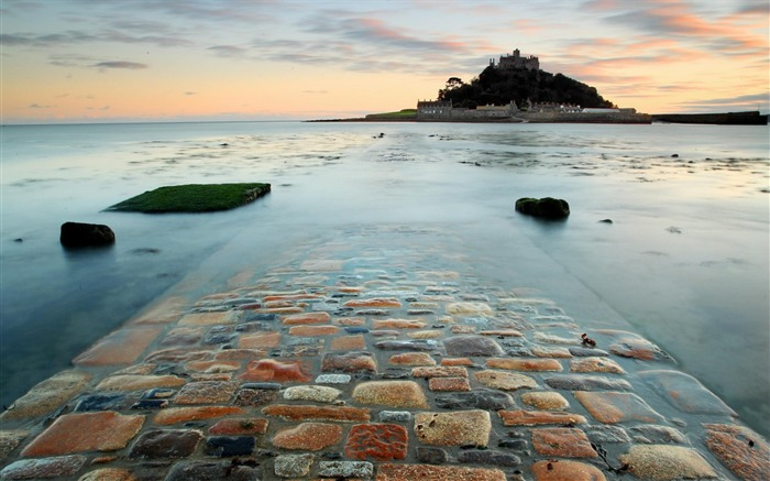 Road stones surf island castle-Scenery Photo HD Wallpaper Views:956