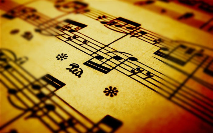 Sheet music sheet-Still Life Macro HD Wallpaper Views:1390