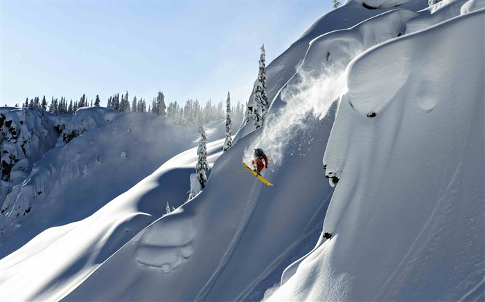 Snow Mountain Snowboarding Extreme HD Wallpaper 05 Views:1374