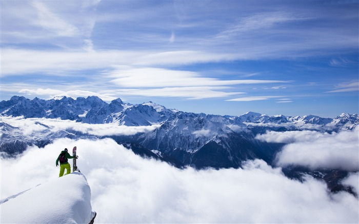 Snow Mountain Snowboarding Extreme HD Wallpaper 09 Views:1280