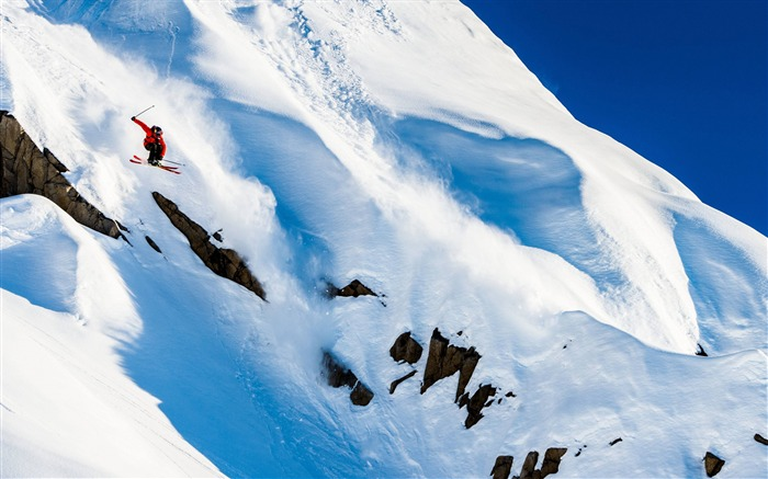 Snow Mountain Snowboarding Extreme HD Wallpaper 12 Views:1473
