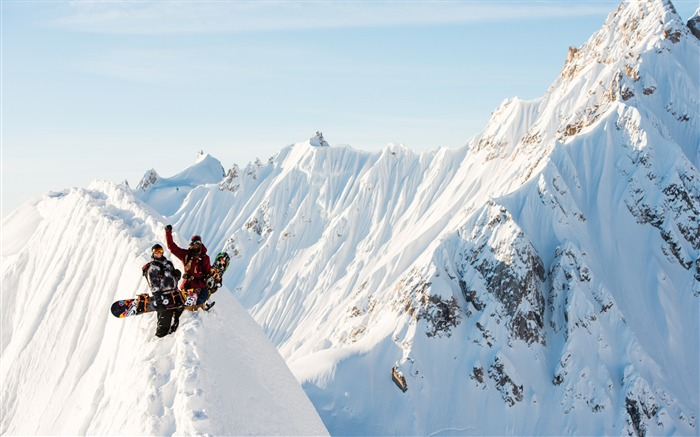 Snow Mountain Snowboarding Extreme HD Wallpaper 19 Views:896