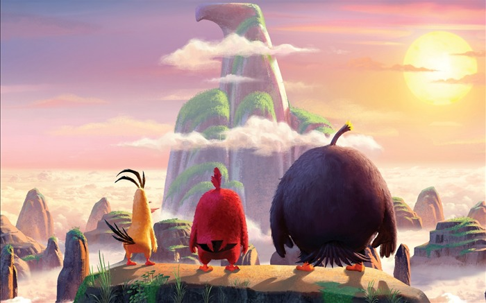 The angry birds art cover-Widescreen High Quality Wallpaper Views:1063