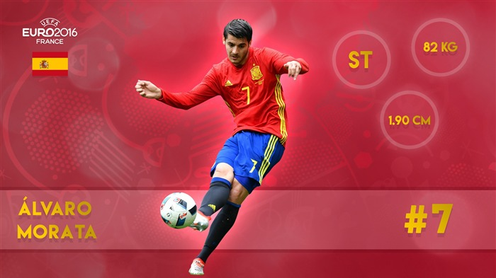 Alvaro Morata-UEFA Euro 2016 Player Wallpaper Views:2337
