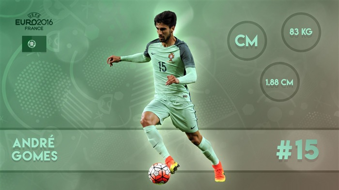 Andre Gomes-UEFA Euro 2016 Player Wallpaper Views:1813
