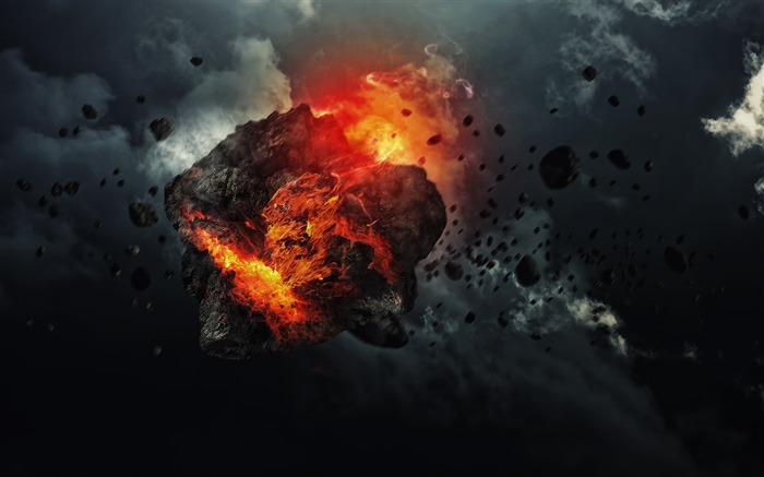 Asteroid Explosion-Universe Digital HD Wallpaper Views:1484