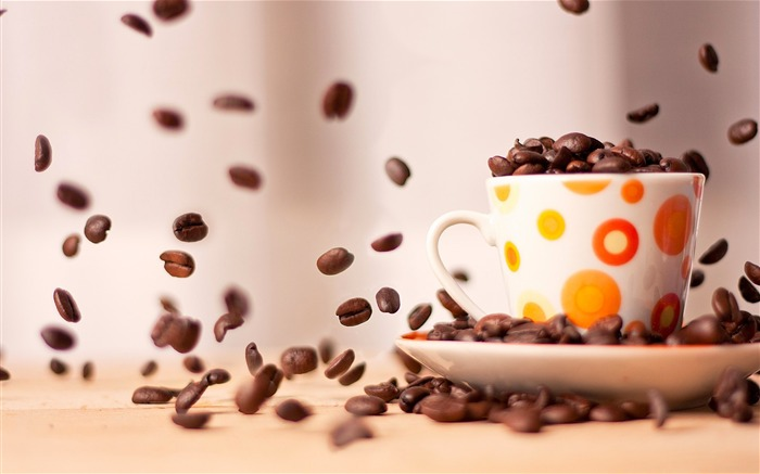 Coffee cup saucer close-up-High Quality HD Wallpaper Views:1101