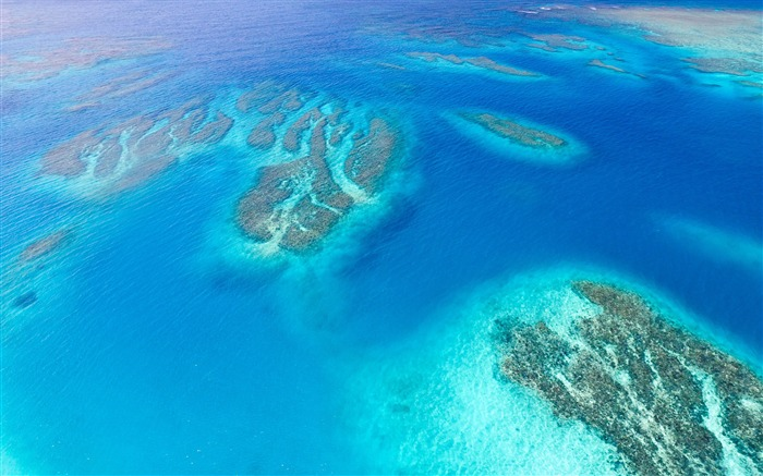 Coral reef aerial view-Ocean scenery HD wallpaper Views:1508