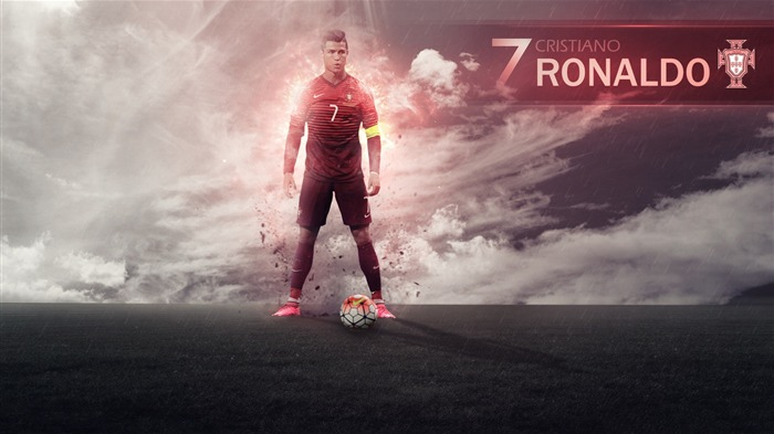 Cristiano Ronaldo-UEFA Euro 2016 Player Wallpaper Views:1141