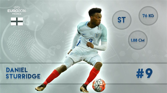 Daniel Sturridge-UEFA Euro 2016 Player Wallpaper Views:1775