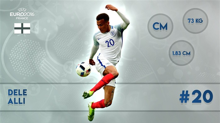 Dele Alli-UEFA Euro 2016 Player Wallpaper Views:1870