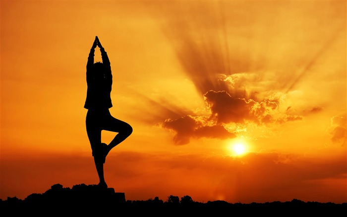 Evening Yoga beauty-2016 Sport HD Wallpaper Views:2480