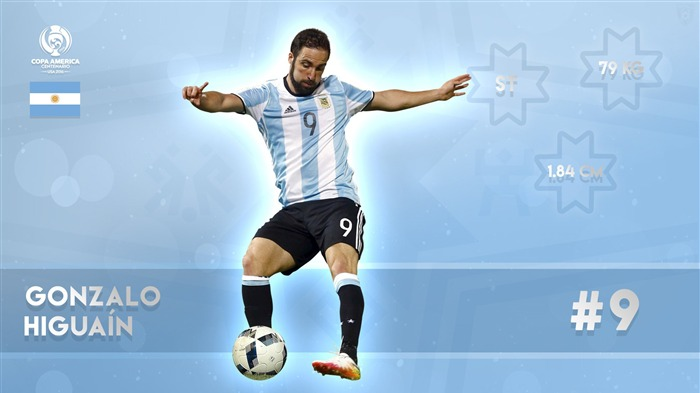 Gonzalo Higuain-Copa America 2016 Player Wallpaper Views:1659