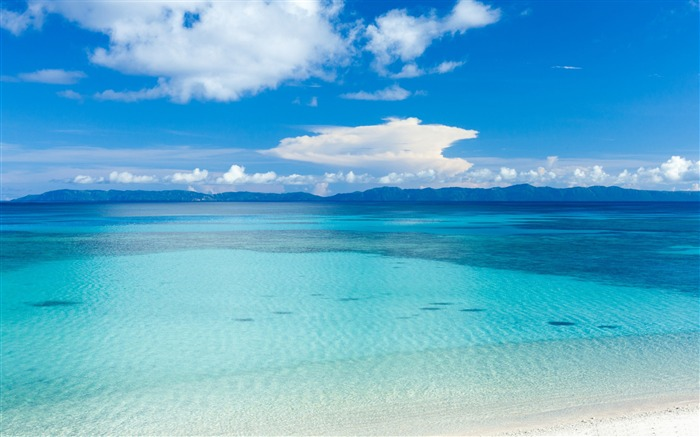 Island beach panoramic view-Ocean scenery HD wallpaper Views:1700