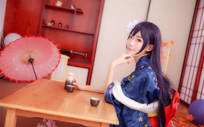 Japanese kimono beauty girls photo poster wallpaper Views:5305