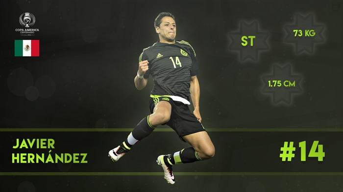 Javier Hernandez-Copa America 2016 Player Wallpaper Views:1582