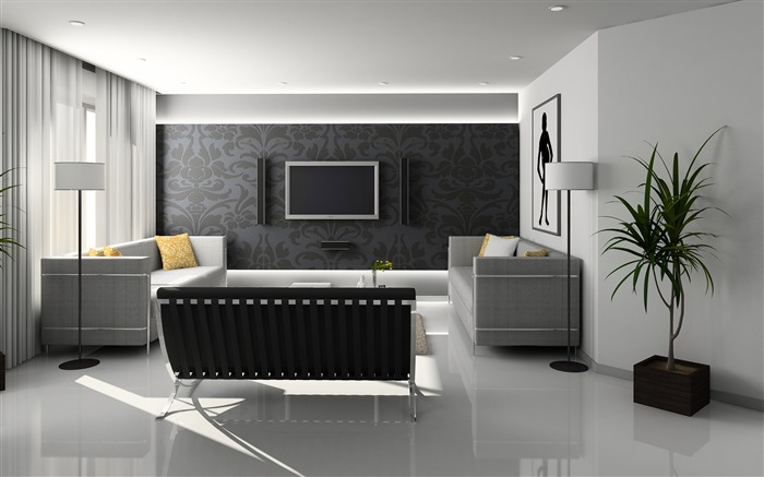 Minimalist interior design theme HD Wallpaper 02 Views:1387