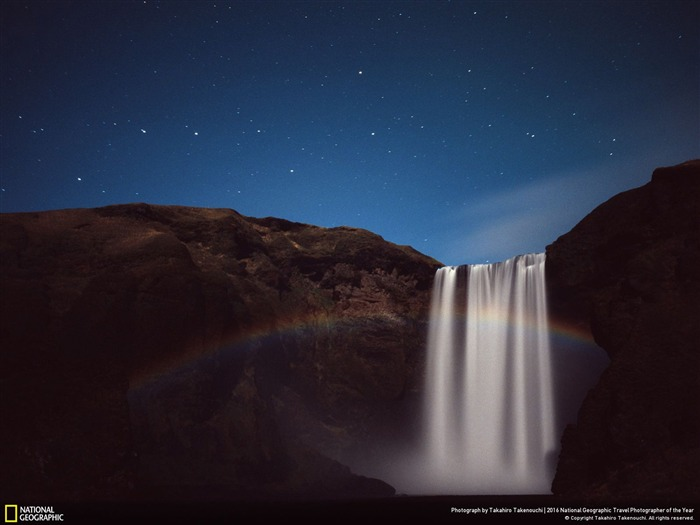 Moonbow waterfall night-2016 National Geographic Wallpaper Views:2060