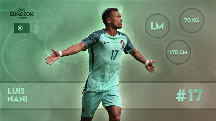 Nani-UEFA Euro 2016 Player Wallpaper Views:1456