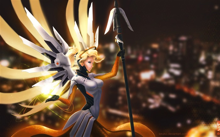 Overwatch mercy anime-High Quality HD Wallpaper Views:1318